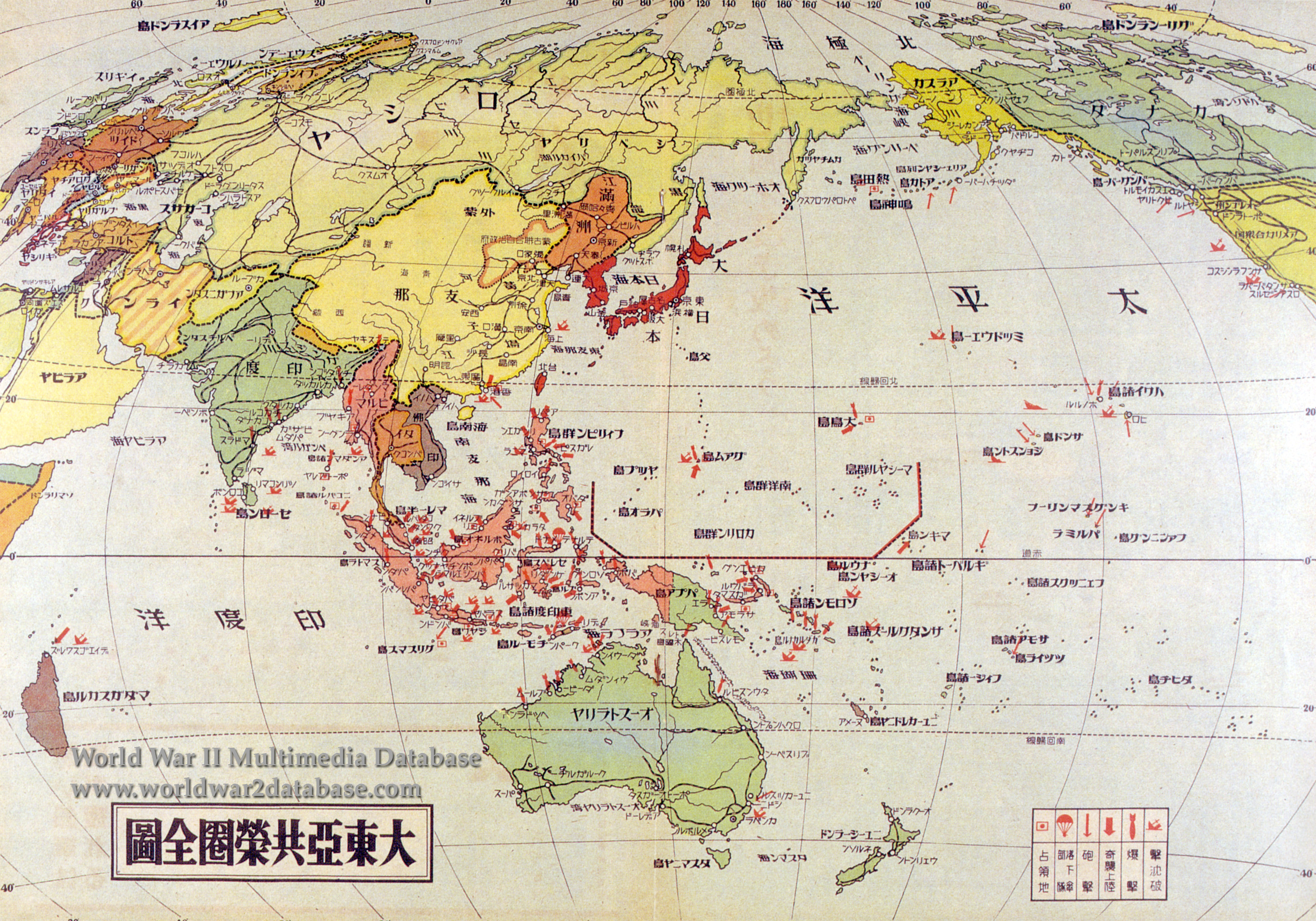 Japanese Pacific War Map | The World War II Multimedia Database
